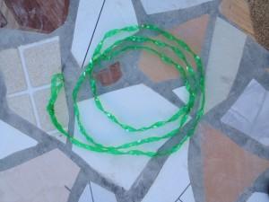 Braided plastic bottle rope